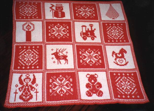 Christmas Afghan Knitting Patterns : Leaflets, Crafts - April Mills - The Knitting Mills